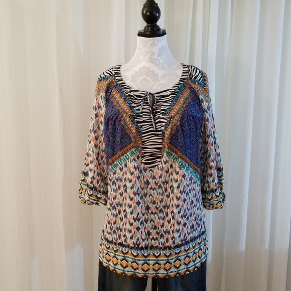 Fig & Flower Tops - Fig & Flower boho blouse